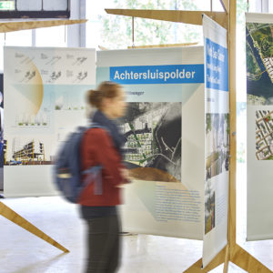 Ontwerp Reizende tentoonstelling Amsterdam Re-places, Academy of Architecture.