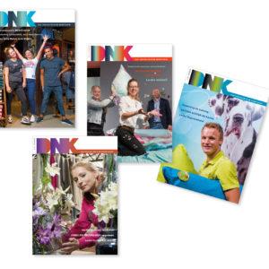 Selectie overzicht tijdschrift DNK, ontwerp en opmaak, FHKN