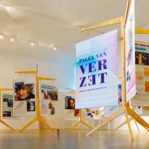 Ontwerp reizende tentoonstelling Palet van Verzet, Kamp Vught.