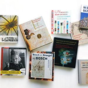 Selectie overzicht boekontwerp Radboud Universiteit Nijmegen, NKS
